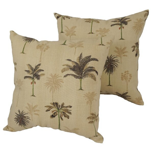Abbotford Palm Desert Square Outdoor Throw Pillow (Set of 4)