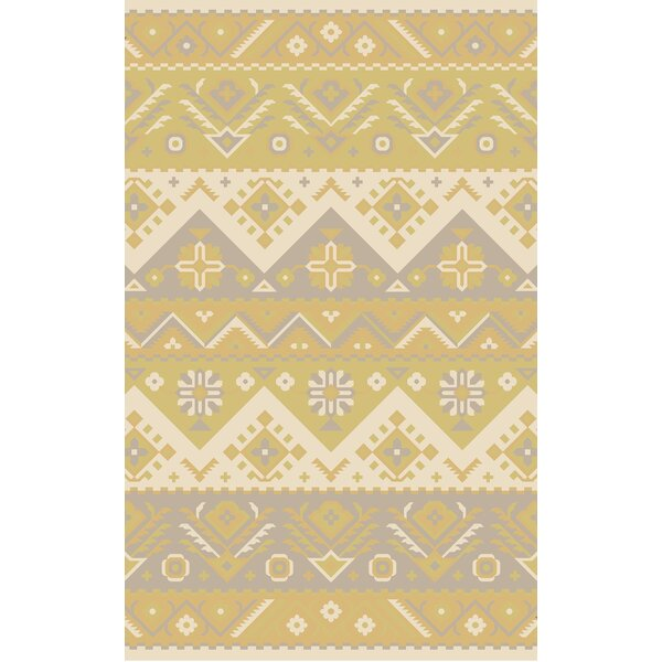 Double Mountain Cream Area Rug by Loon Peak