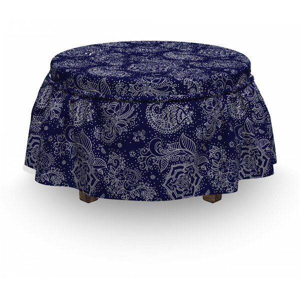 Flowers Paisley Fantasy Art Ottoman Slipcover (Set Of 2) By East Urban Home