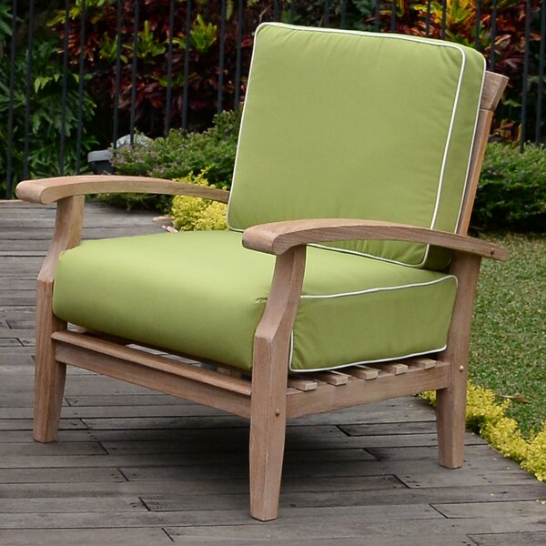Monterey Teak Patio Chair with Cushions (Set of 2) by Cambridge Casual