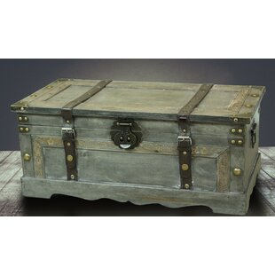 Great Price Nowlin Rustic Large Wooden Storage Trunk By Williston Forge