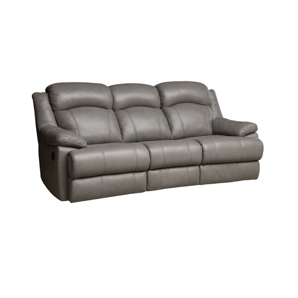 Looking for Nigel Leather Reclining Sofa By Darby Home Co New Design