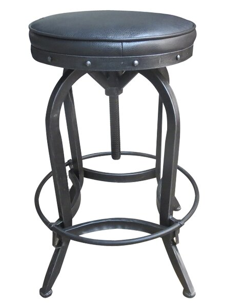 Gustavo Adjustable Height Swivel Bar Stool by 17 Stories