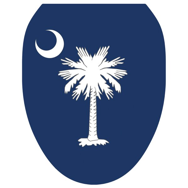 Palmetto Moon Toilet Seat Decal by Toilet Tattoos