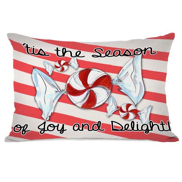 Season of Joy and Delight Lumbar Pillow by One Bella Casa