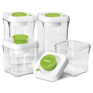 Fresh Edge Vacuum-Seal 8 Container Food Storage Set