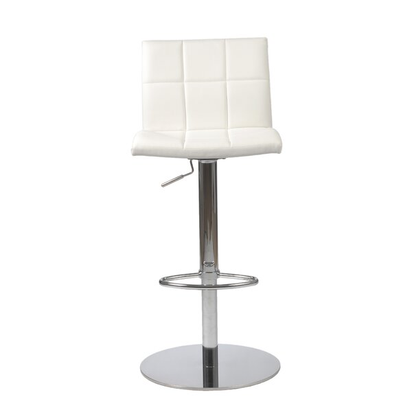 Amicus Adjustable Height Swivel Bar Stool by Orren Ellis