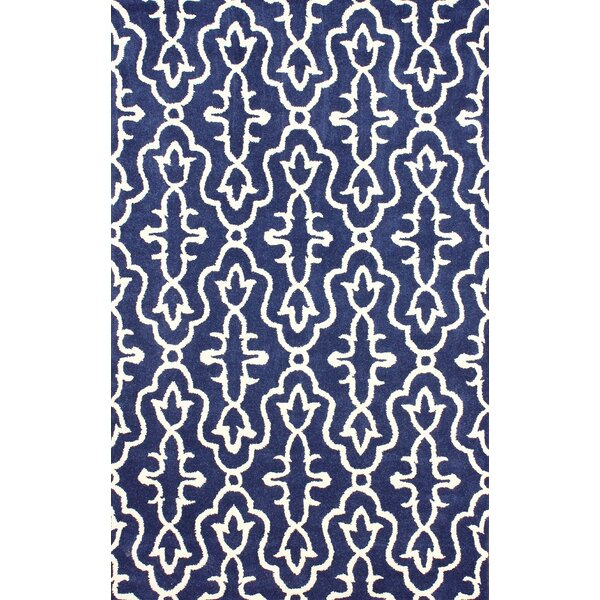 Amalfi Hand-Tufted Wool Navy Area Rug by nuLOOM