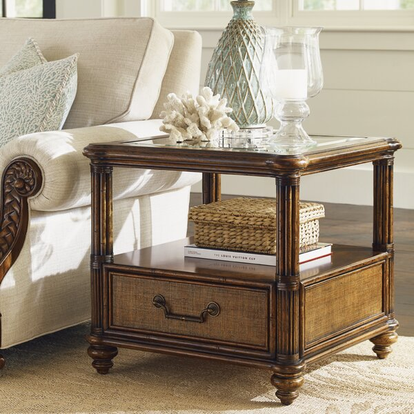 Bali Hai End Table with Storage by Tommy Bahama Home Tommy Bahama Home