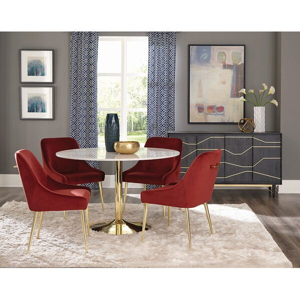 Chilmark Upholstered Dining Chair (Set of 2) by Everly Quinn