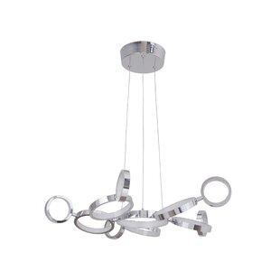Modern contemporary chrome chandelier lighting allmodern kincannon 11 light led sputnik chandelier aloadofball Image collections