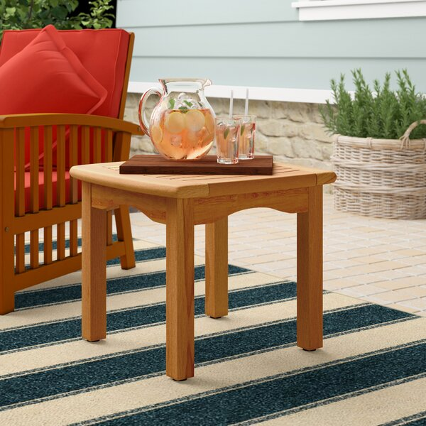 Elsmere Solid Wood Side Table by Beachcrest Home
