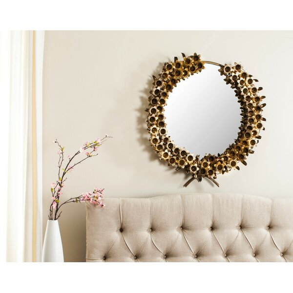 Flower Accent Mirror by House of Hampton
