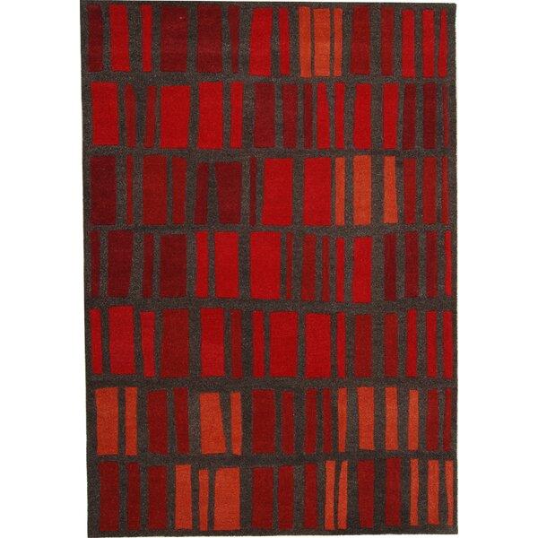 Odyssey Red Stripe Rug by Dynamic Rugs