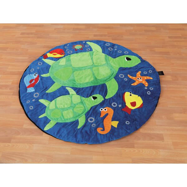 Ocean Life Turtles Kids Rug by KaloKids