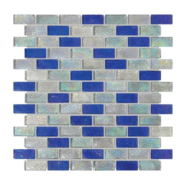 Glass Mosaic Tile in Gray/Blue by QDI Surfaces