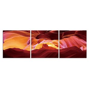 'Sunburn Colors' Graphic Art Print Multi-Piece Image on Canvas by Latitude Run