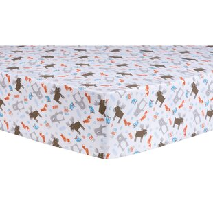 Read Reviews Scandi Forest Fitted Crib Sheet ByTrend Lab