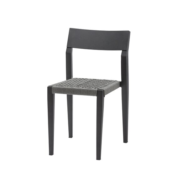 Belmont Side Rope Stacking Patio Dining Chair by Source Contract