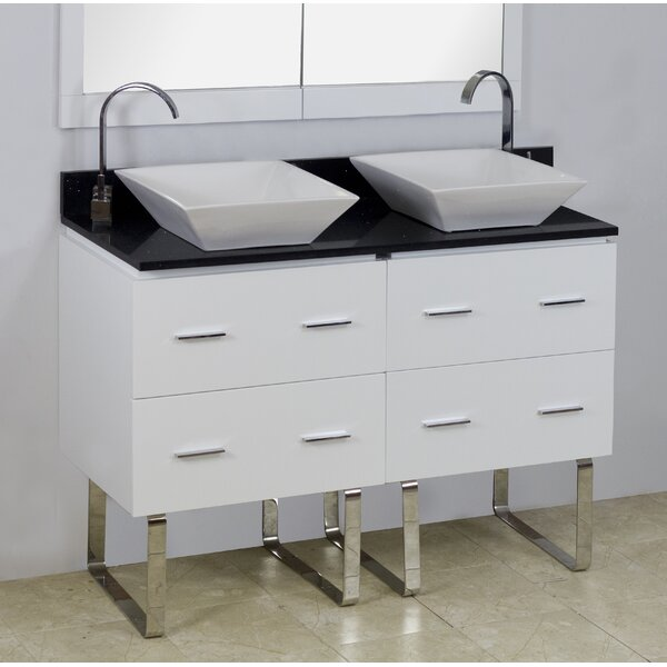 48 Double Modern Bathroom Vanity Set