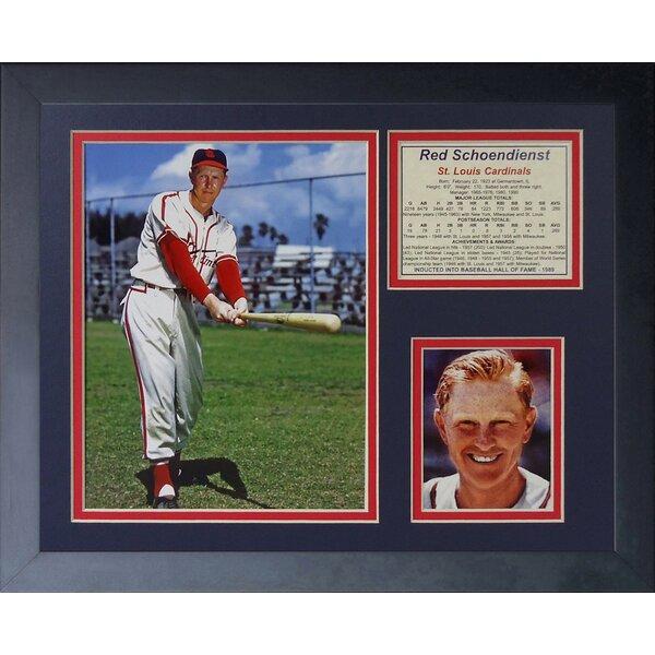 Red Schoendienst Framed Memorabilia by Legends Never Die