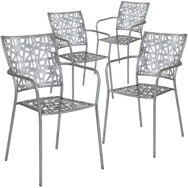 Ocilla Stacking Patio Dining Chair (Set of 4) by Ebern Designs