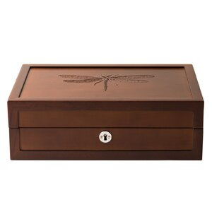 Dragonfly Motif Large Jewelry Box