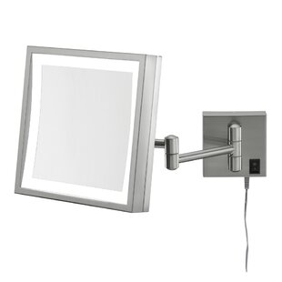 Single Sided Square 3x Magnification LED Wall Mirror ByKimball & Young