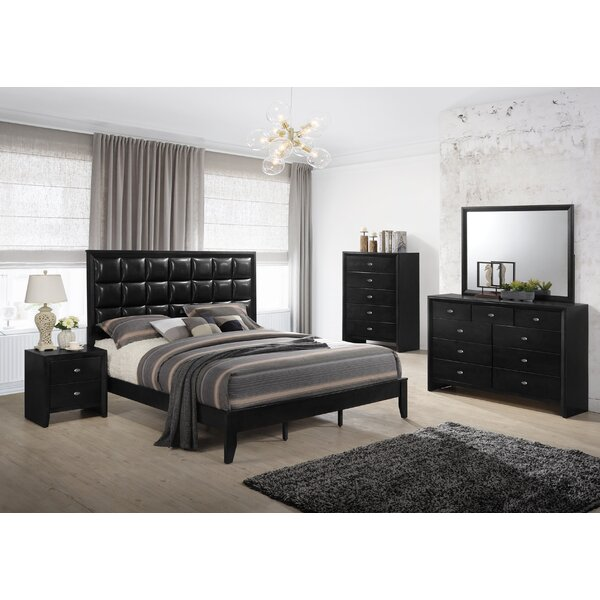Gloria Platform 5 Piece Bedroom Set by Roundhill Furniture