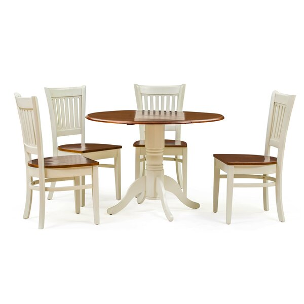 Thornhill 5 Piece Drop Leaf Dining Set by Alcott Hill