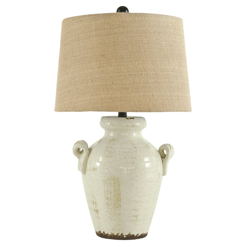 "Emil 27"" Table Lamp - Come discover 50 Photos of Inspiring White Rooms With Rustic Vintage Charm!"