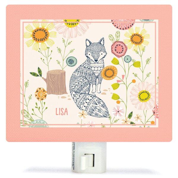 Hiding Fox Canvas Night Light by Oopsy Daisy