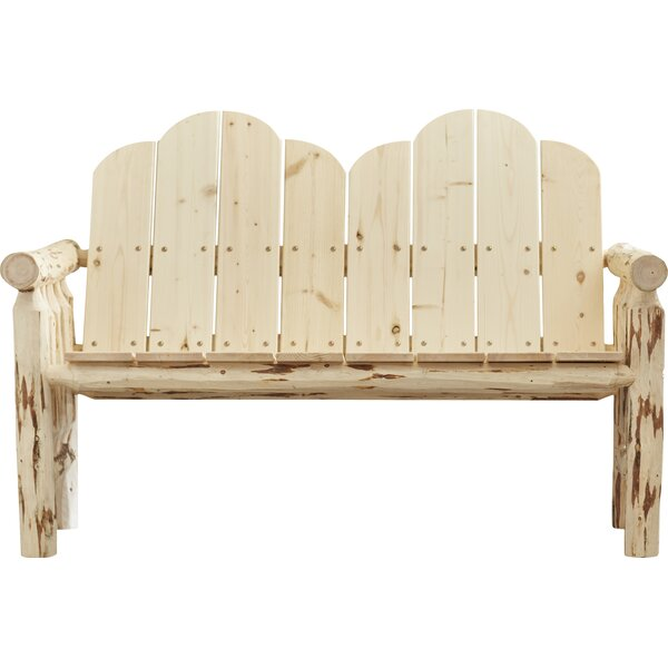 Hamza Deck Wooden Garden Bench by Darby Home Co