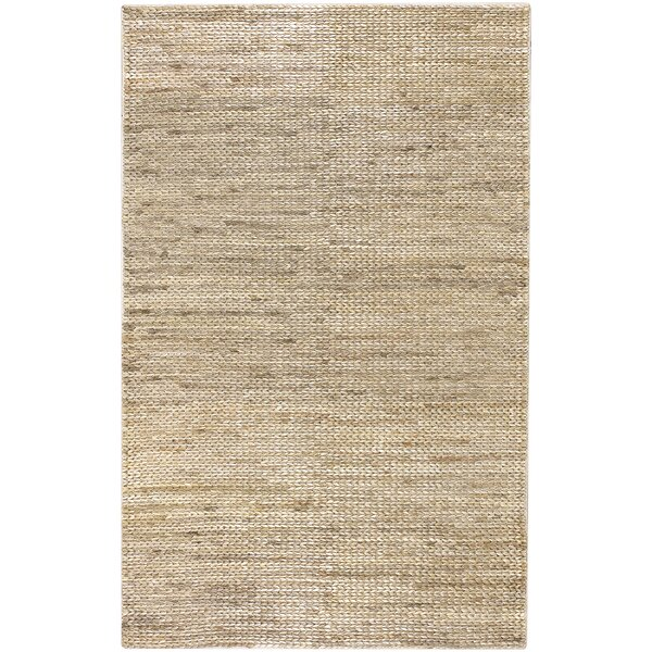 Tai Hand Woven Beige Area Rug by Bay Isle Home