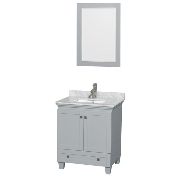 Acclaim 30 Single Bathroom Vanity Set with Mirror by Wyndham Collection
