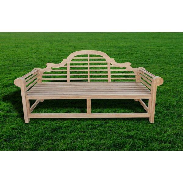 Gemma Teak Garden Bench by Rosecliff Heights Rosecliff Heights