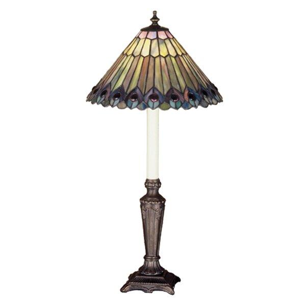 Jeweled Peacock 23 Table Lamp by Meyda Tiffany