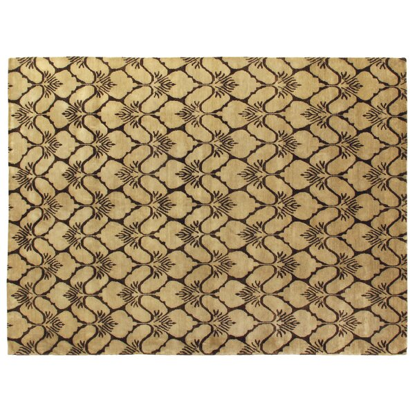 Metropolitan Hand Knotted Wool Brown/Ivory Area Rug by Exquisite Rugs