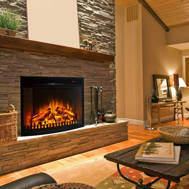 Gibson Living Curved Ventless Wall Mount Electric Fireplace Insert ...