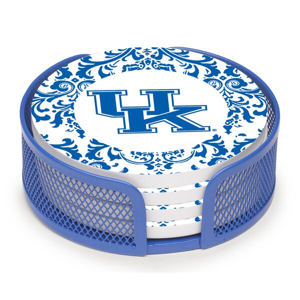 5 Piece University of Kentucky Collegiate Coaster Gift Set by Thirstystone