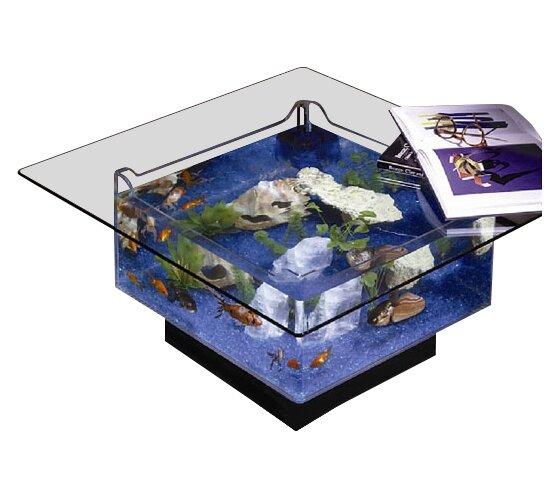 midwest tropical fountain 25 gallon aqua coffee table aquarium