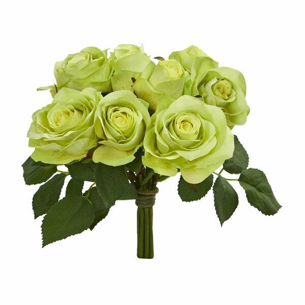 Rose Bush Floral Arrangement (Set of 2) by House of Hampton