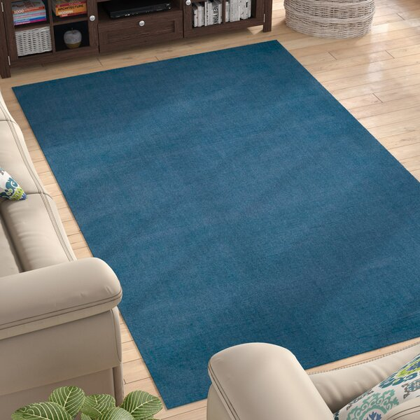 Naples Hand Woven Blue Area Rug by Andover Mills