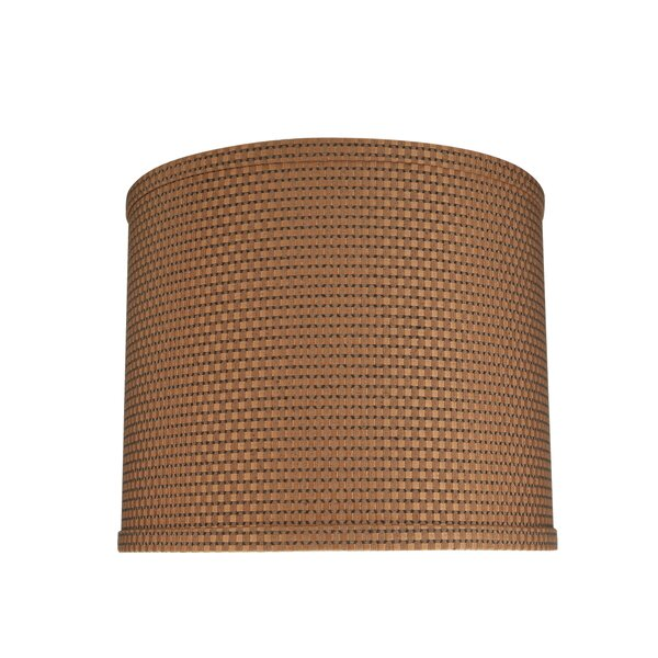 10 H Jacquard Textured Fabric Drum Lamp Shade ( Spider ) in Brown