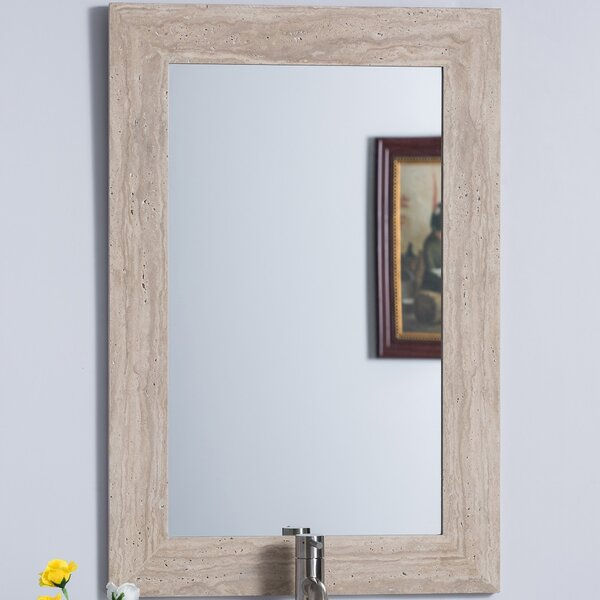 Lazerek Travertine Bathroom/Vanity Mirror by Orren Ellis