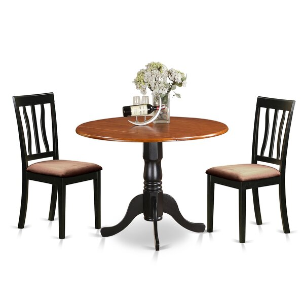#1 3 Piece Extendable Dining Set By East West Furniture Design