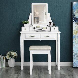 Corner Makeup Vanity Table Wayfair