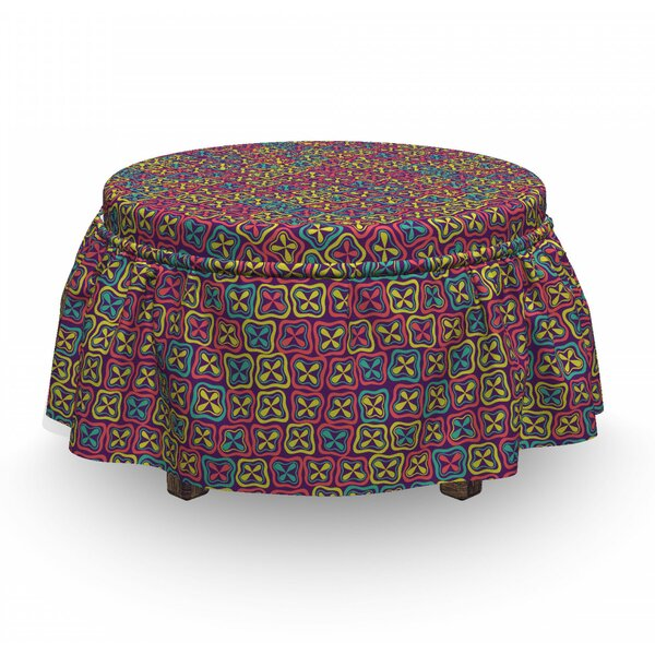 Clovers In Squares Ottoman Slipcover (Set Of 2) By East Urban Home