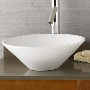 Reviews Geometric Ceramic Circular Vessel Bathroom Sink By Ronbow