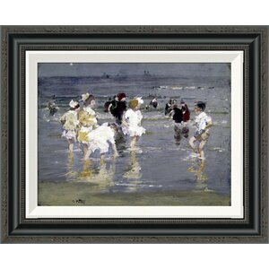 'Children on the Beach' by Edward Henry Potthast Framed Painting Print by Global Gallery